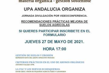 Jornada G.O. Mosoex. Recomendaciones prácticas mejora de suelos agrícolas
